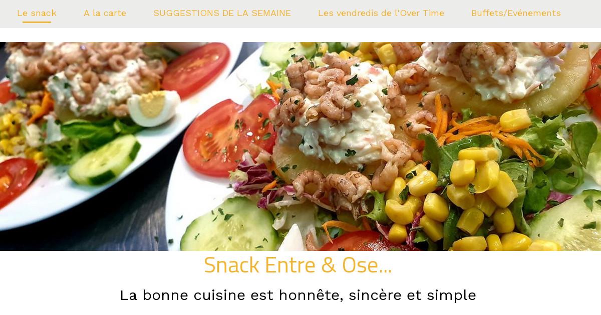 Entre ose menu du vendredi soir for Menu du soir entre amis